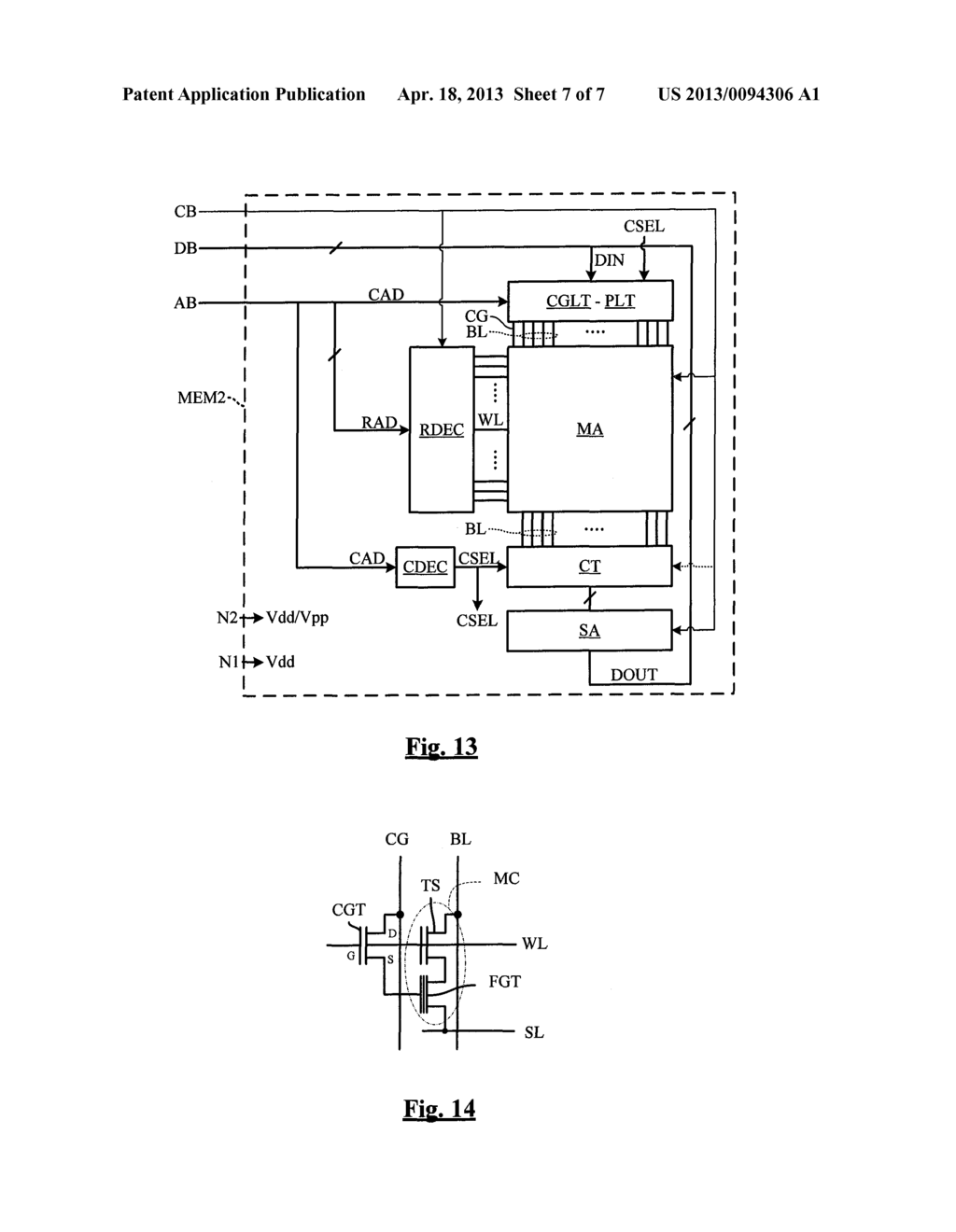 INTEGRATED CIRCUIT COMPRISING A NON-DEDICATED TERMINAL FOR RECEIVING AN     ERASE PROGRAM HIGH VOLTAGE - diagram, schematic, and image 08