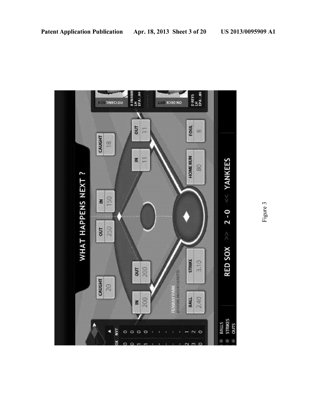 METHOD FOR PLAYING A SPORTS GAME, AND A GAMING DEVICE - diagram, schematic, and image 04