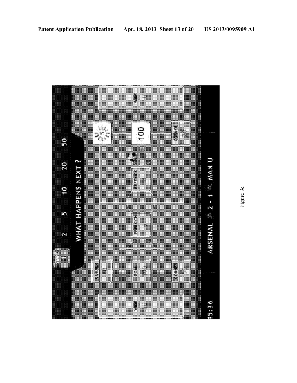 METHOD FOR PLAYING A SPORTS GAME, AND A GAMING DEVICE - diagram, schematic, and image 14