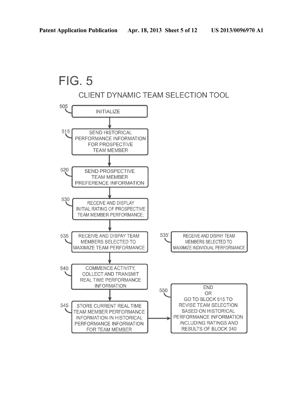 TOOL FOR DYNAMIC TEAM SELECTION FOR IMPROVED PERFORMANCE - diagram, schematic, and image 06