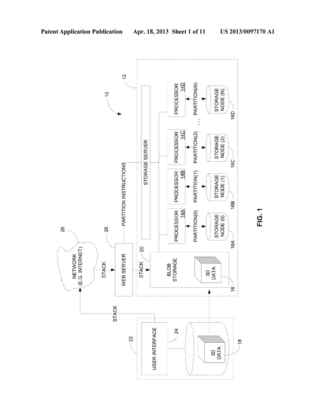 APPARATUS, SYSTEM AND METHOD FOR THE EFFICIENT STORAGE AND RETRIEVAL OF     3-DIMENSIONALLY ORGANIZED DATA IN CLOUD-BASED COMPUTING ARCHITECTURES - diagram, schematic, and image 02