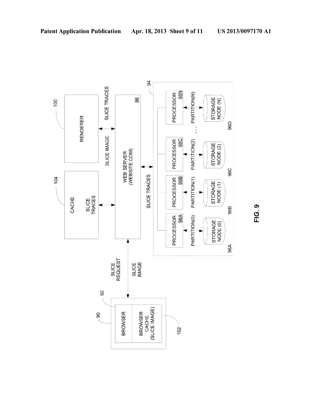 APPARATUS, SYSTEM AND METHOD FOR THE EFFICIENT STORAGE AND RETRIEVAL OF     3-DIMENSIONALLY ORGANIZED DATA IN CLOUD-BASED COMPUTING ARCHITECTURES - diagram, schematic, and image 10