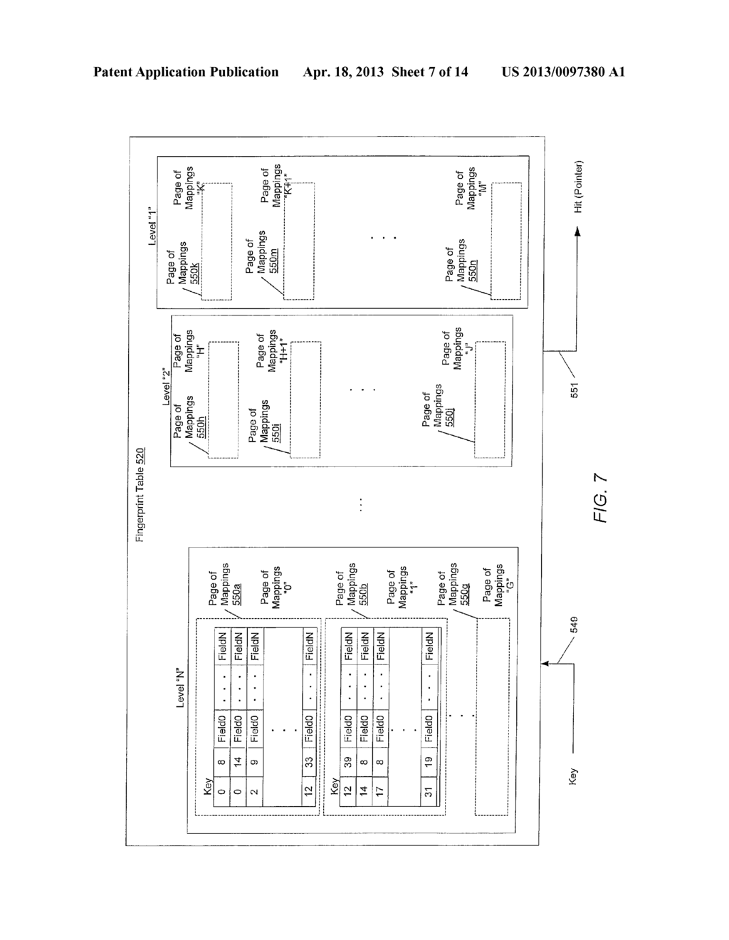 METHOD FOR MAINTAINING MULTIPLE FINGERPRINT TABLES IN A DEDUPLICATING     STORAGE SYSTEM - diagram, schematic, and image 08