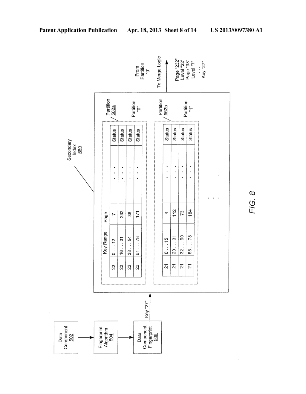 METHOD FOR MAINTAINING MULTIPLE FINGERPRINT TABLES IN A DEDUPLICATING     STORAGE SYSTEM - diagram, schematic, and image 09