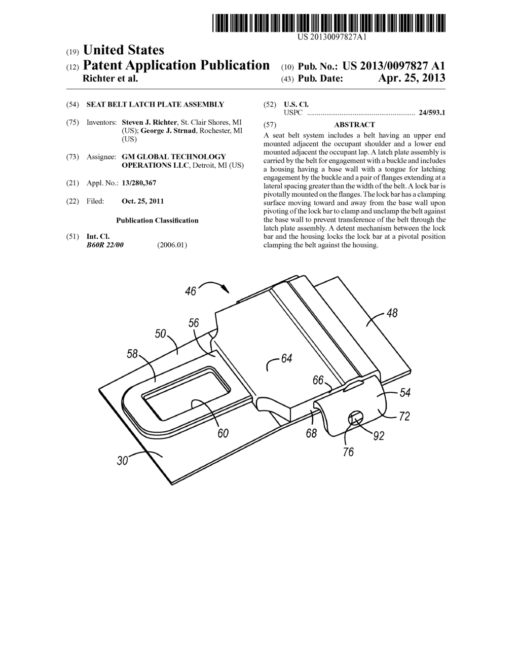 seat belt latch plate assembly diagram, schematic, and image 01 Naza Wiring Diagram