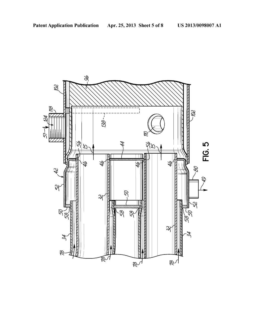 Combination Liquid Cooled Exhaust Manifold Assembly And Catalytic Engine Diagram Converter For A Marine Schematic Image 06