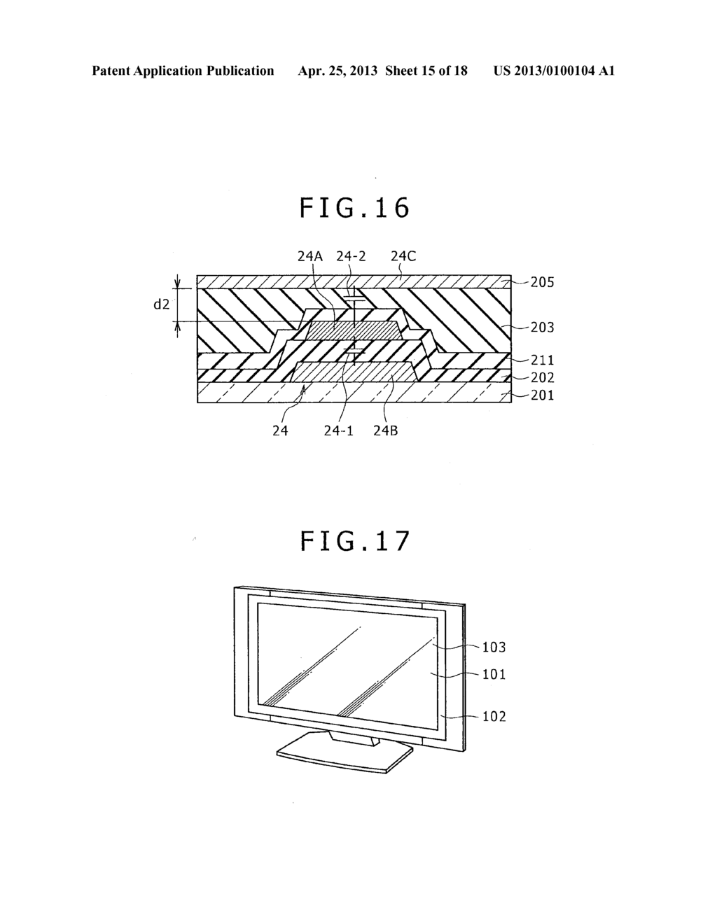 DISPLAY, METHOD FOR DRIVING DISPLAY, AND ELECTRONIC APPARATUS - diagram, schematic, and image 16