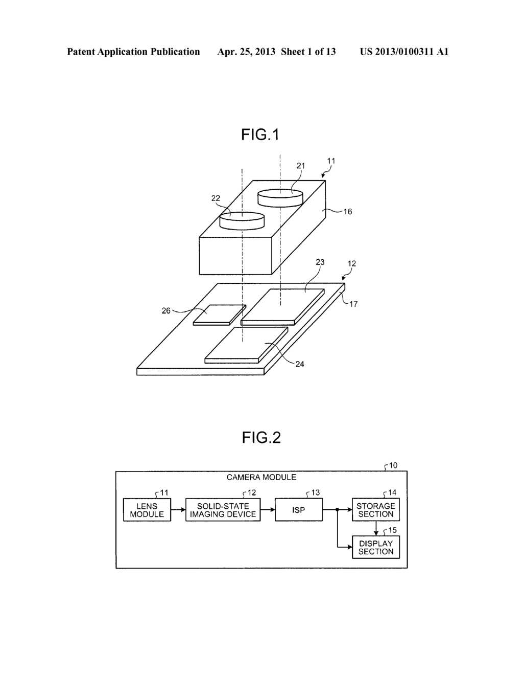 SOLID-STATE IMAGING DEVICE, CAMERA MODULE, AND FOCUS ADJUSTMENT METHOD OF     CAMERA MODULE - diagram, schematic, and image 02