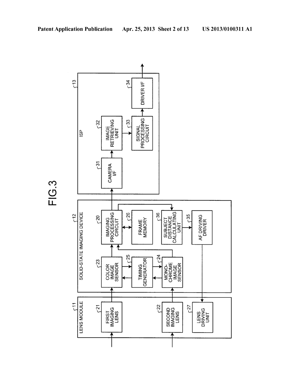 SOLID-STATE IMAGING DEVICE, CAMERA MODULE, AND FOCUS ADJUSTMENT METHOD OF     CAMERA MODULE - diagram, schematic, and image 03