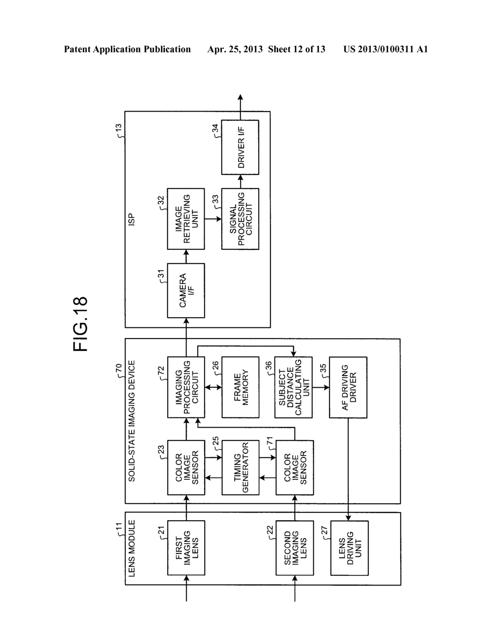 SOLID-STATE IMAGING DEVICE, CAMERA MODULE, AND FOCUS ADJUSTMENT METHOD OF     CAMERA MODULE - diagram, schematic, and image 13