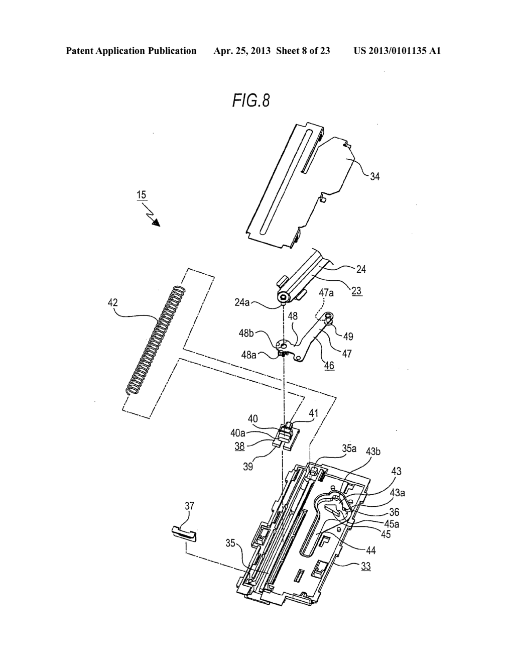 TRAY MOVING MECHANISM AND IN-VEHICLE AUDIO APPARATUS - diagram, schematic, and image 09