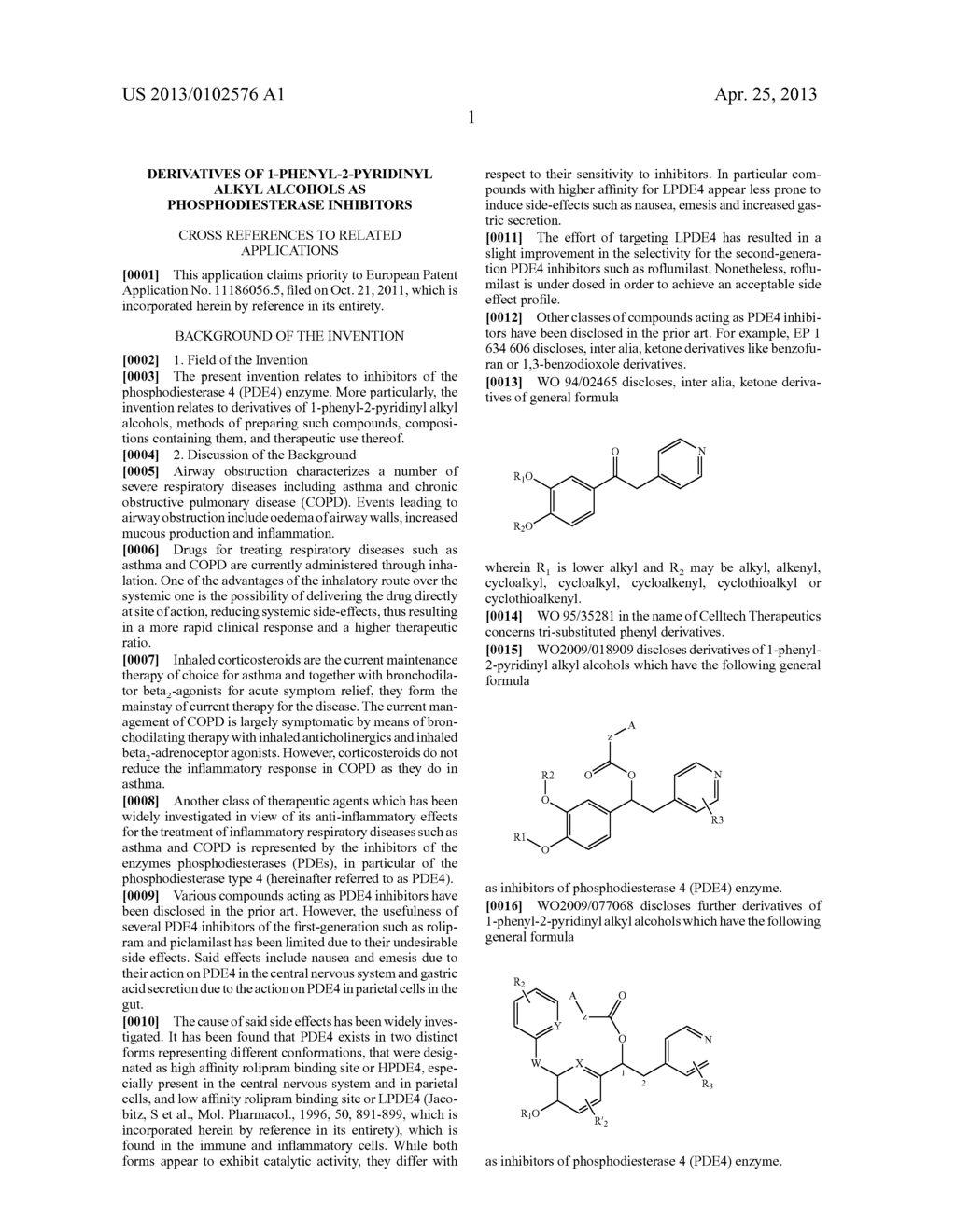 DERIVATIVES OF 1-PHENYL-2-PYRIDINYL ALKYL ALCOHOLS AS PHOSPHODIESTERASE     INHIBITORS - diagram, schematic, and image 02