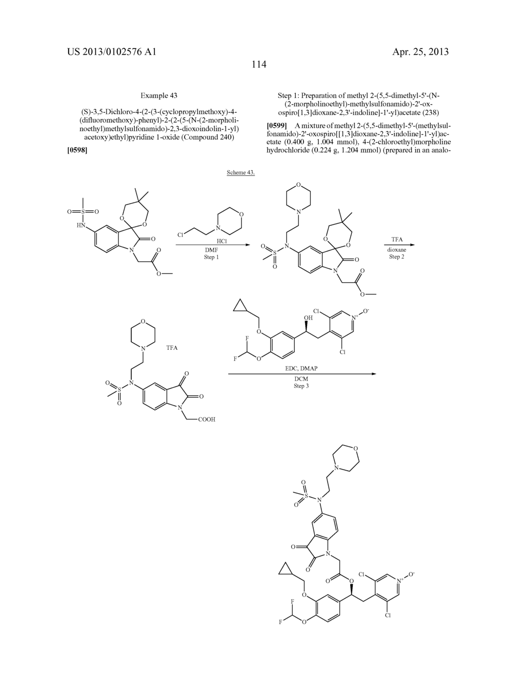 DERIVATIVES OF 1-PHENYL-2-PYRIDINYL ALKYL ALCOHOLS AS PHOSPHODIESTERASE     INHIBITORS - diagram, schematic, and image 114