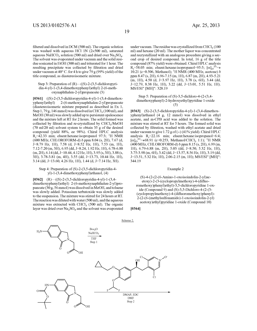 DERIVATIVES OF 1-PHENYL-2-PYRIDINYL ALKYL ALCOHOLS AS PHOSPHODIESTERASE     INHIBITORS - diagram, schematic, and image 20