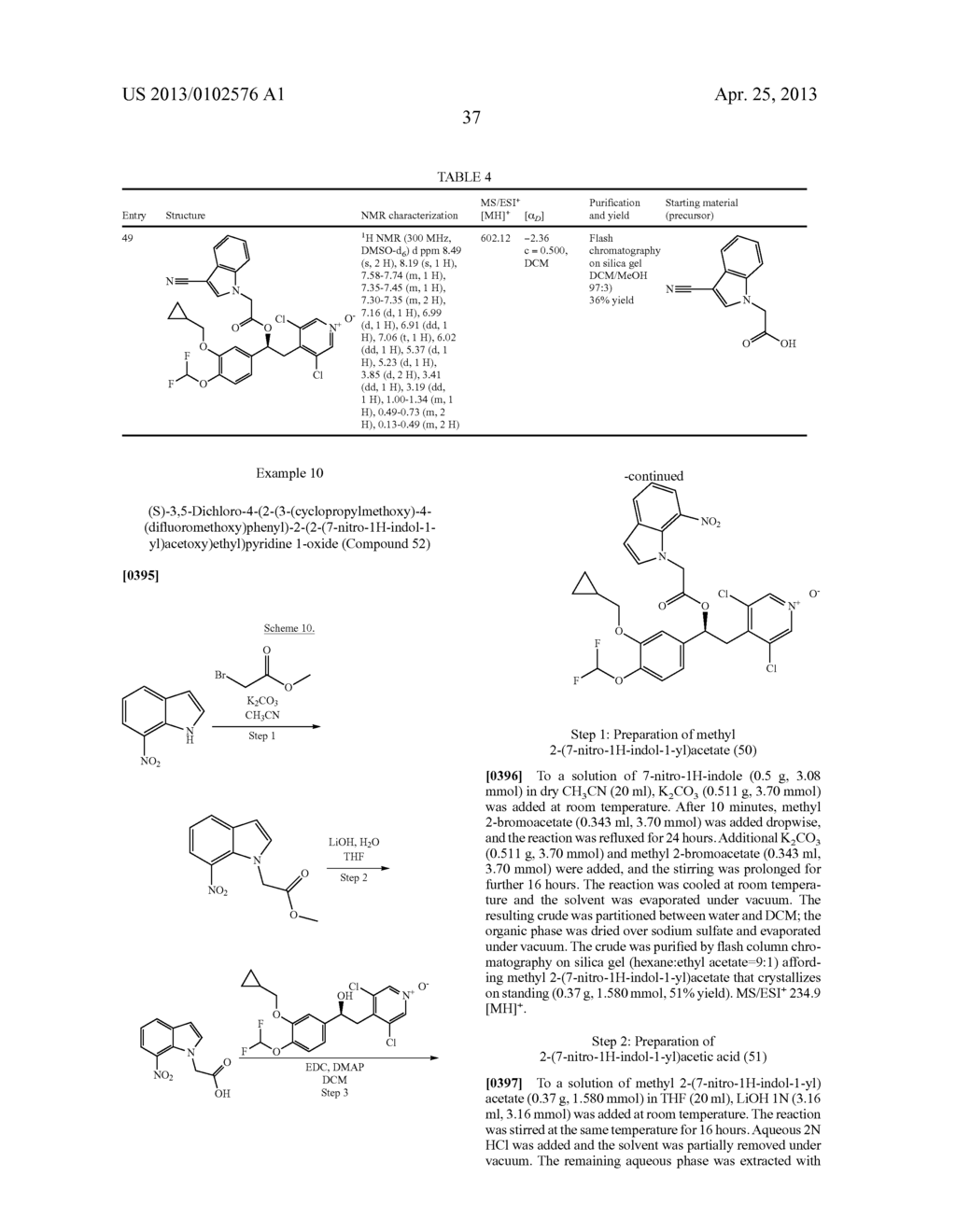 DERIVATIVES OF 1-PHENYL-2-PYRIDINYL ALKYL ALCOHOLS AS PHOSPHODIESTERASE     INHIBITORS - diagram, schematic, and image 38