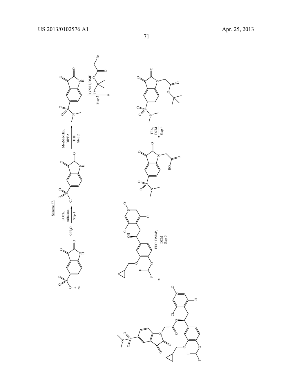 DERIVATIVES OF 1-PHENYL-2-PYRIDINYL ALKYL ALCOHOLS AS PHOSPHODIESTERASE     INHIBITORS - diagram, schematic, and image 72