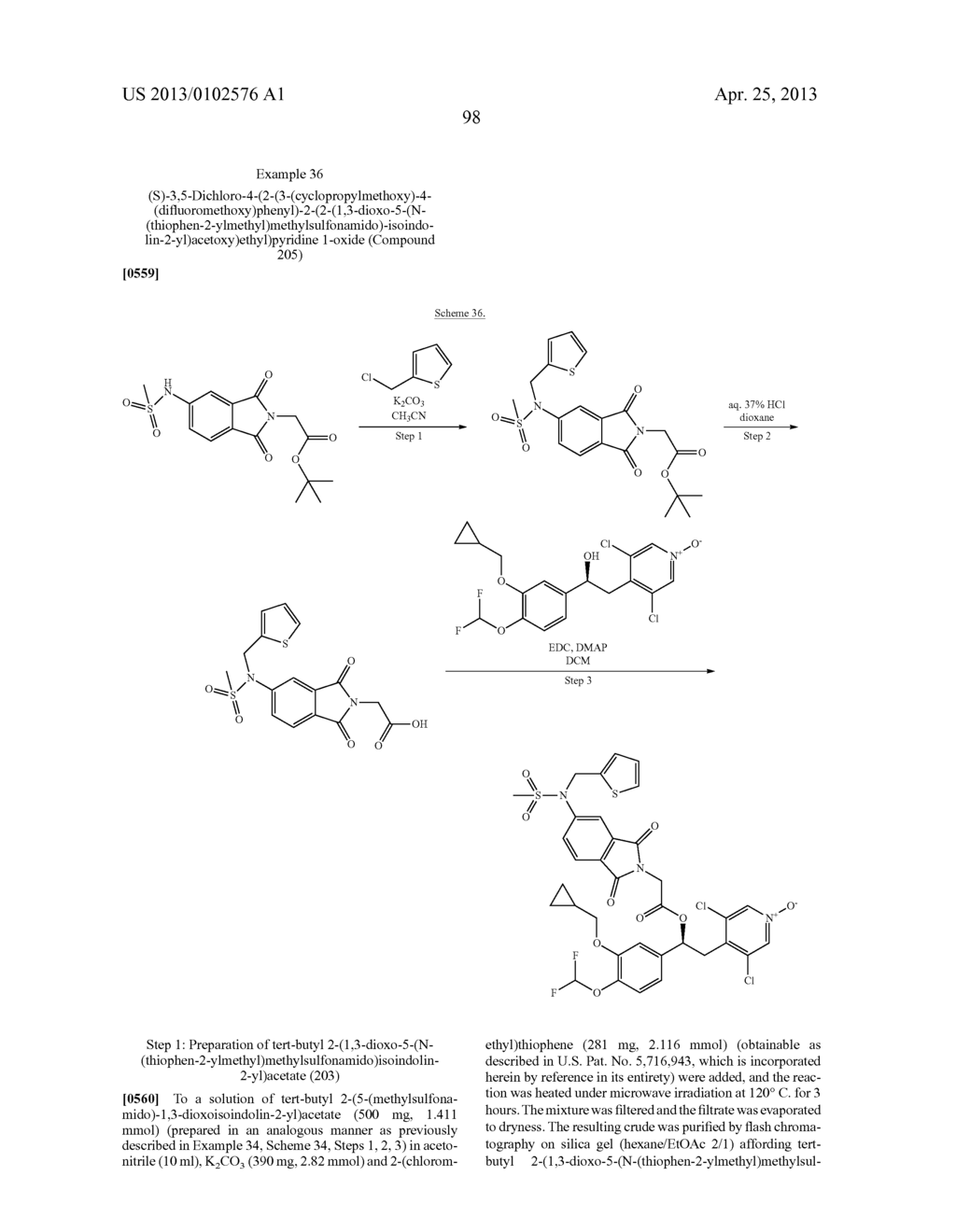 DERIVATIVES OF 1-PHENYL-2-PYRIDINYL ALKYL ALCOHOLS AS PHOSPHODIESTERASE     INHIBITORS - diagram, schematic, and image 98