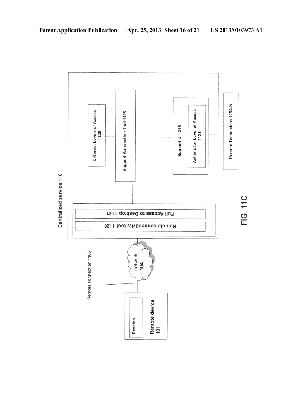 SYSTEMS AND METHODS FOR PROVIDING HIERARCHY OF SUPPORT SERVICES VIA     DESKTOP AND CENTRALIZED SERVICE - diagram, schematic, and image 17