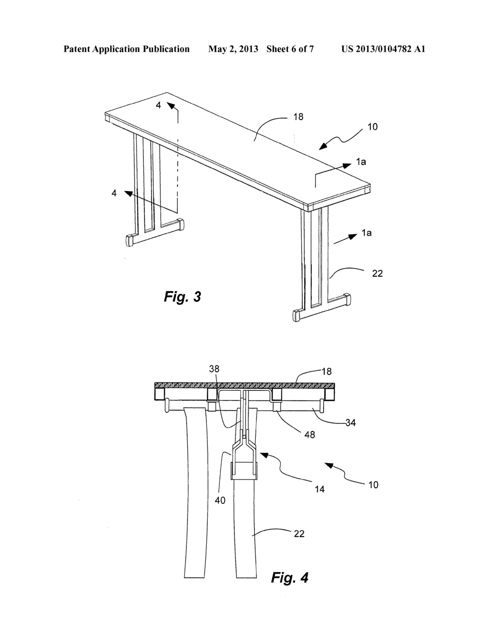 LEG LOCKING AND FOLDING MECHANISM FOR FOLDING TABLE - diagram, schematic,  and image 07