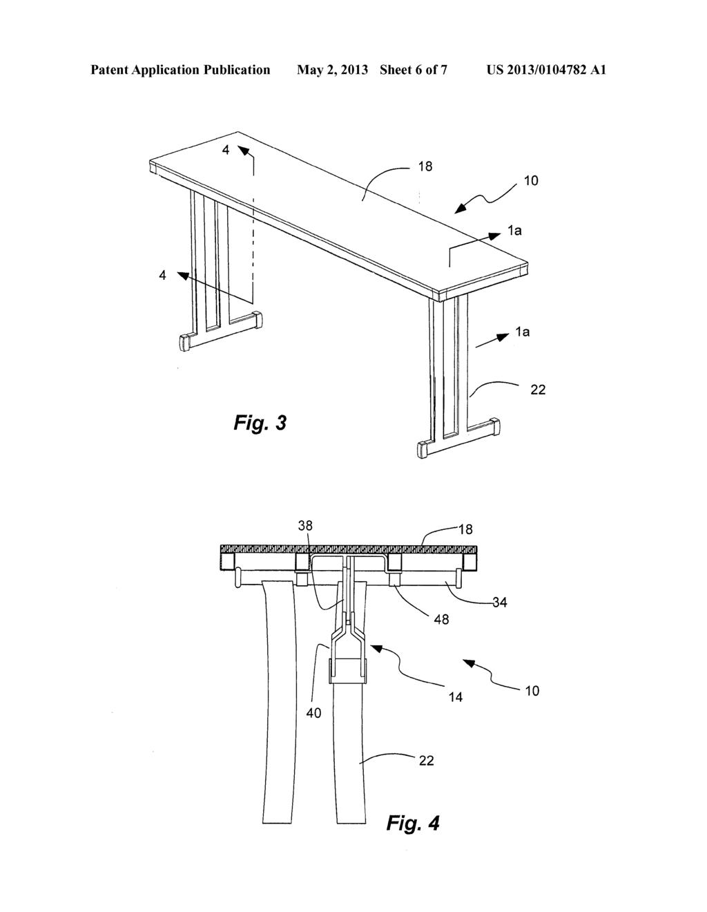 leg locking and folding mechanism for folding table diagram rh patentsencyclopedia com Horseshoe Table Room Layout Table