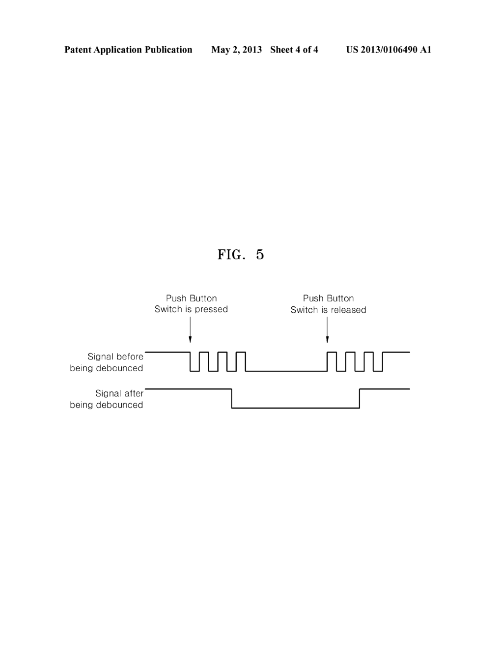 Debounce Switching Element Incorporating A Circuit Push Button Switch Diagram Schematic And Image 05
