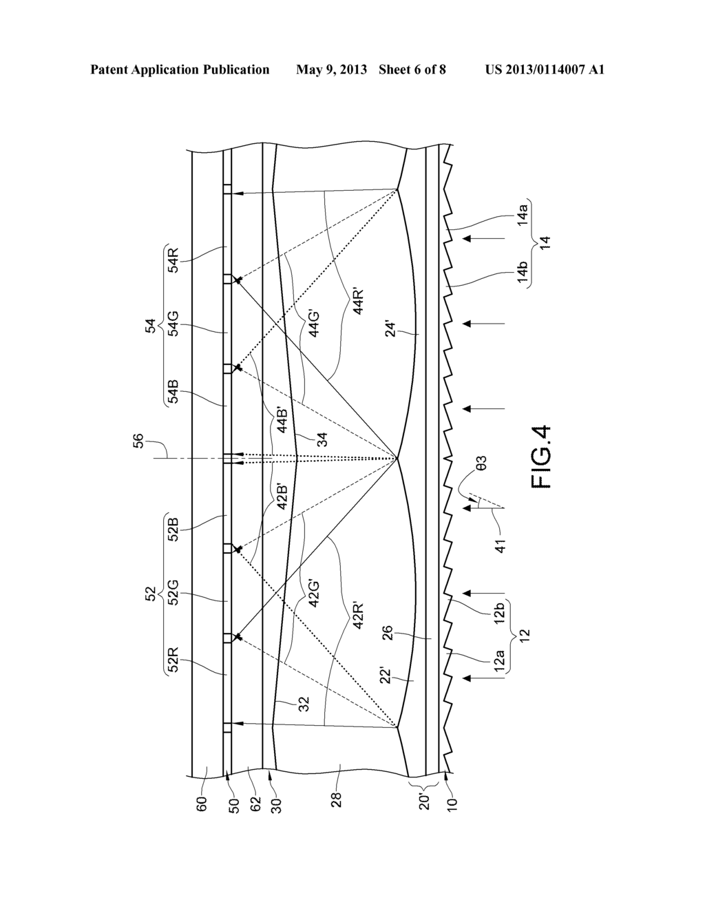 AUTO-STEREOSCOPIC MULTI-DIMENSIONAL DISPLAY COMPONENT AND DISPLAY THEREOF - diagram, schematic, and image 07