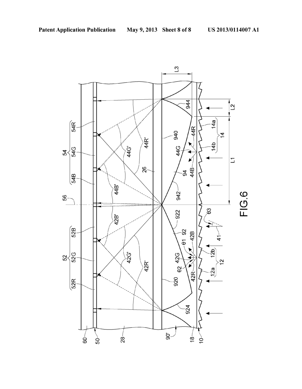AUTO-STEREOSCOPIC MULTI-DIMENSIONAL DISPLAY COMPONENT AND DISPLAY THEREOF - diagram, schematic, and image 09