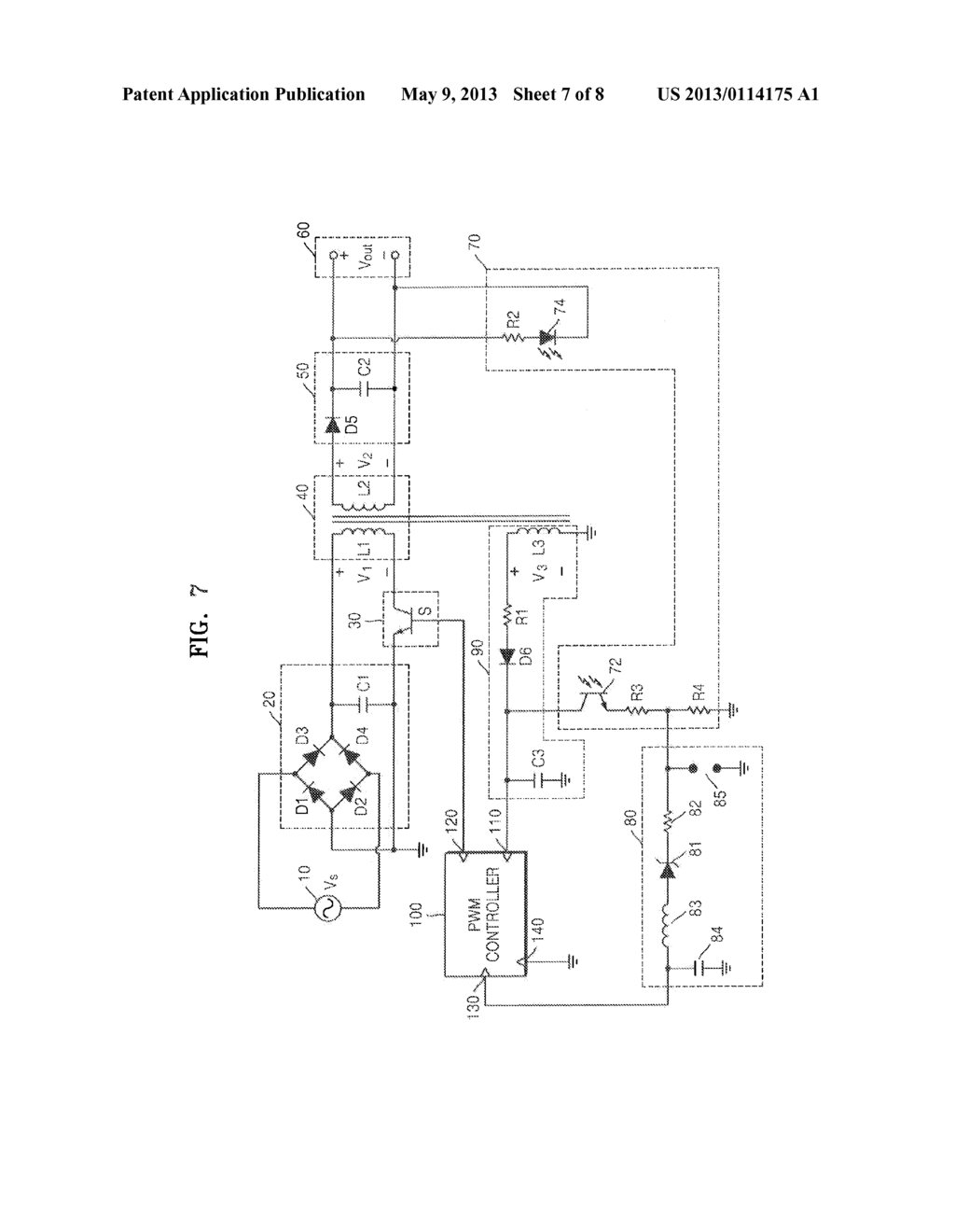 SWITCHING MODE POWER SUPPLY INCLUDING SURGE PROTECTION CIRCUIT AND IMAGE  FORMING APPARATUS INCLUDING THE SAME - diagram, schematic, and image 08