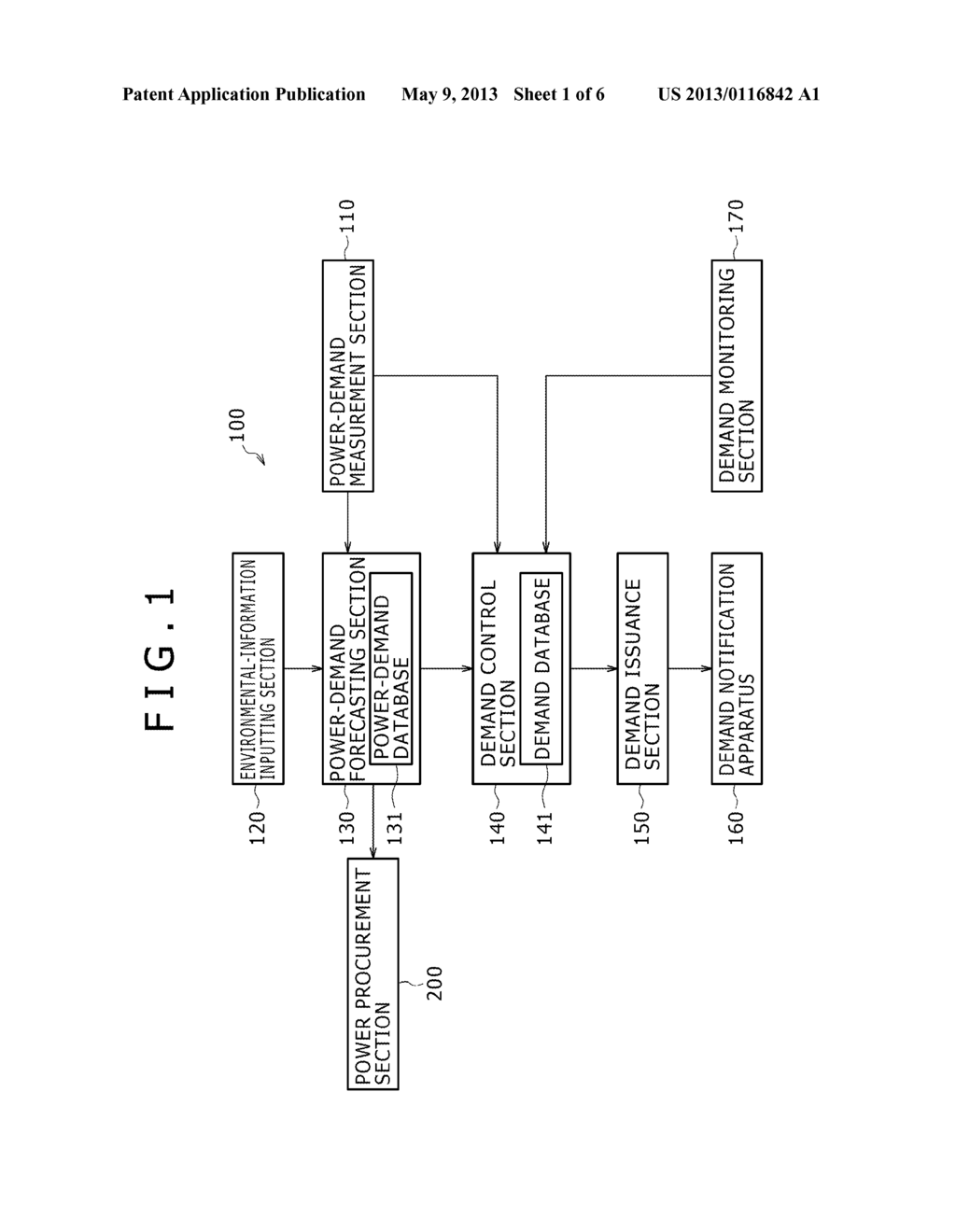 POWER MANAGEMENT APPARATUS, POWER MANAGEMENT METHOD AND DEMAND     NOTIFICATION APPARATUS - diagram, schematic, and image 02