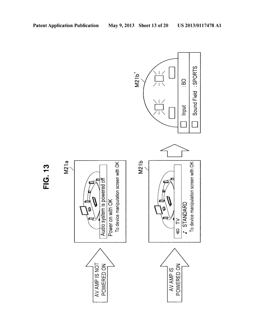 DEVICE CONTROL APPARATUS, DEVICE CONTROL METHOD AND PROGRAM FOR INITIATING     CONTROL OF AN OPERATION OF AN EXTERNAL DEVICE - diagram, schematic, and image 14
