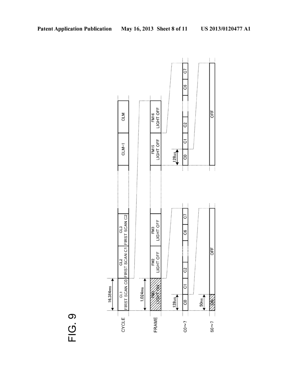 DISPLAY APPARATUS LIGHT EMISSION CONTROL METHOD AND DISPLAY UNIT - diagram, schematic, and image 09