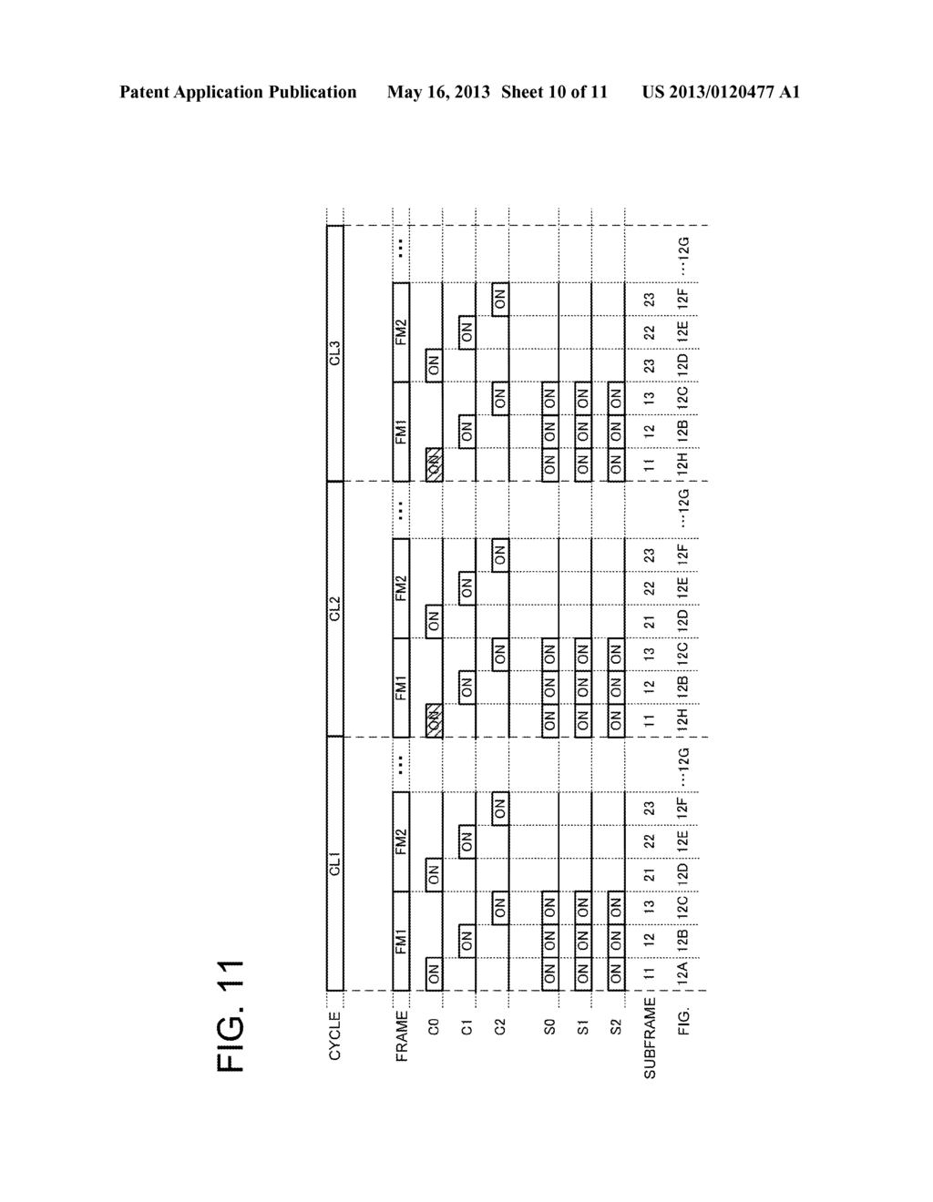 DISPLAY APPARATUS LIGHT EMISSION CONTROL METHOD AND DISPLAY UNIT - diagram, schematic, and image 11