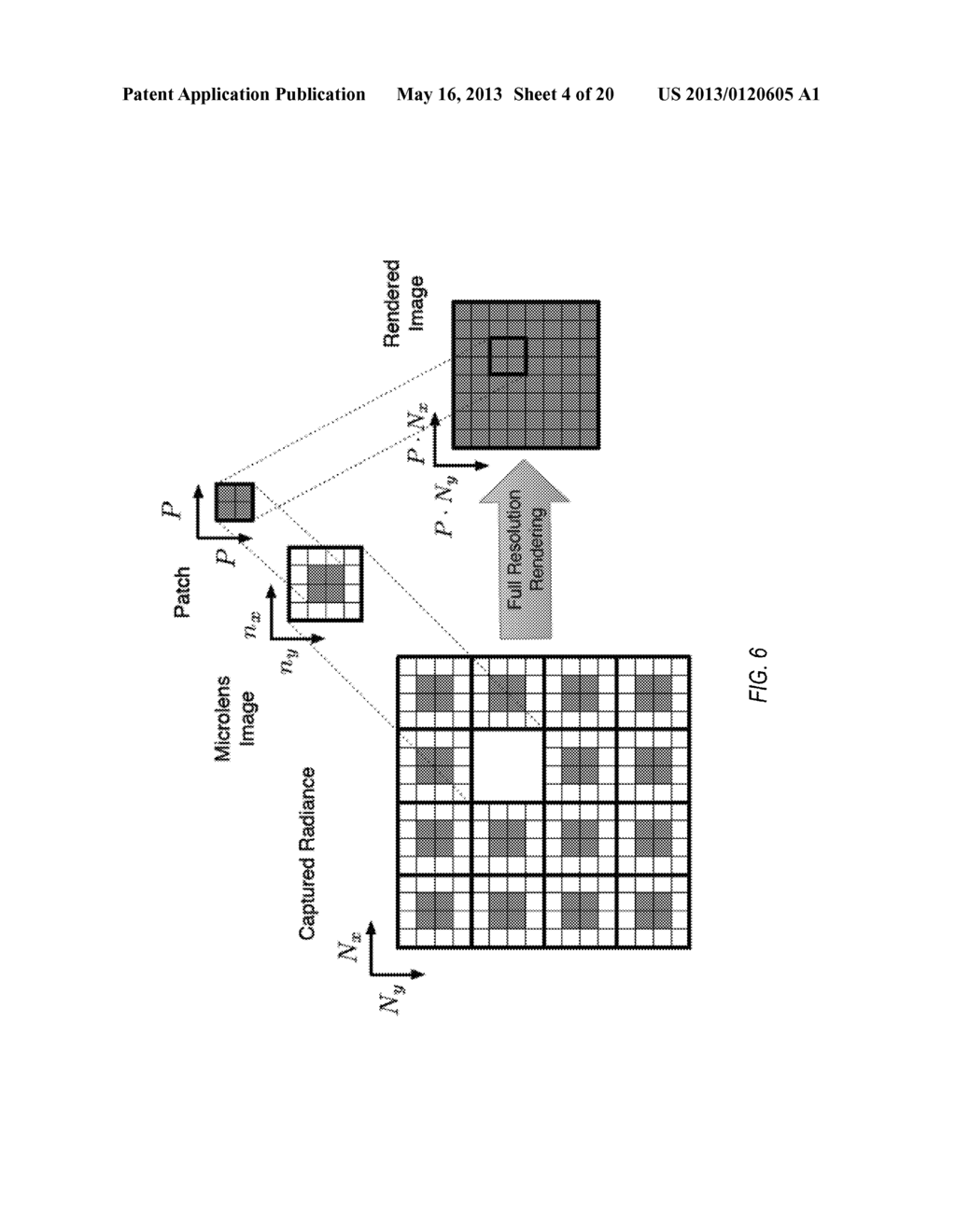 Methods, Apparatus, and Computer-Readable Storage Media for Blended     Rendering of Focused Plenoptic Camera Data - diagram, schematic, and image 05