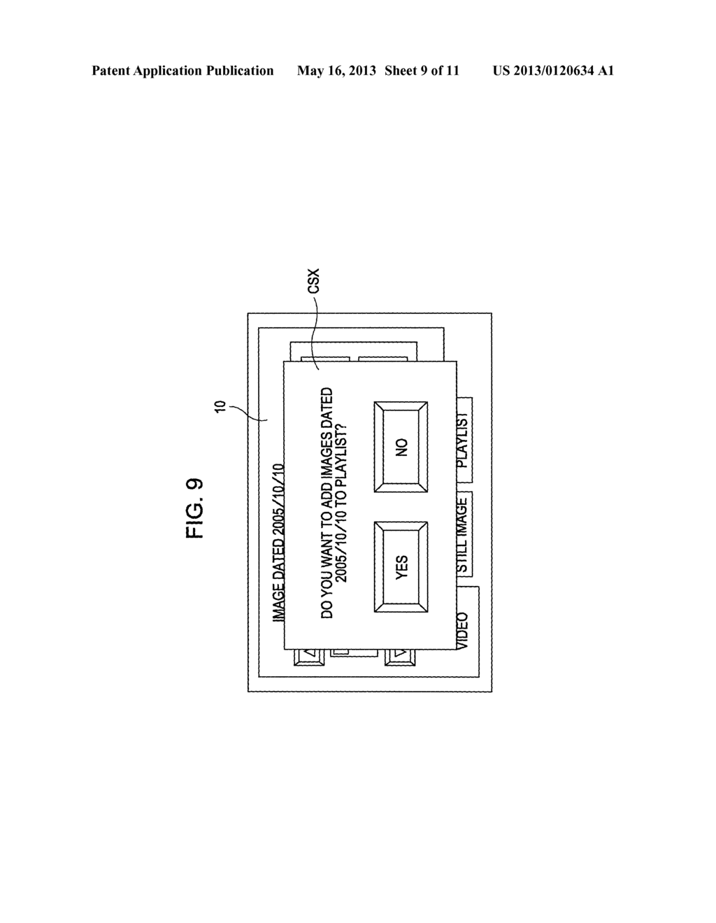 APPARATUS, METHOD, AND PROGRAM FOR SELECTING IMAGE DATA USING A DISPLAY - diagram, schematic, and image 10