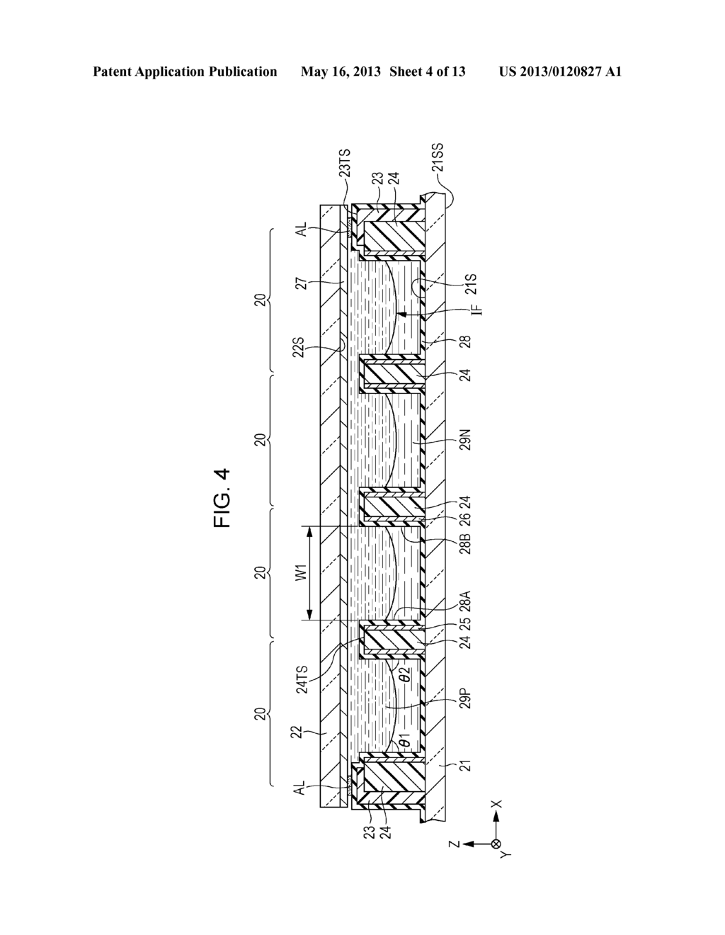 OPTICAL ELEMENT ARRAY, METHOD OF FORMING OPTICAL ELEMENT ARRAY, DISPLAY     DEVICE AND ELECTRONIC APPARATUS - diagram, schematic, and image 05