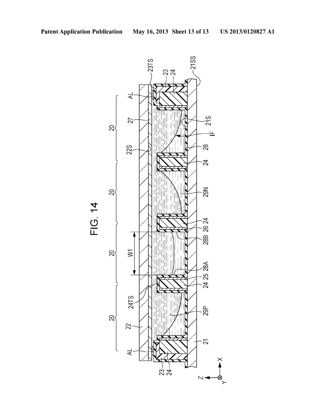 OPTICAL ELEMENT ARRAY, METHOD OF FORMING OPTICAL ELEMENT ARRAY, DISPLAY     DEVICE AND ELECTRONIC APPARATUS - diagram, schematic, and image 14