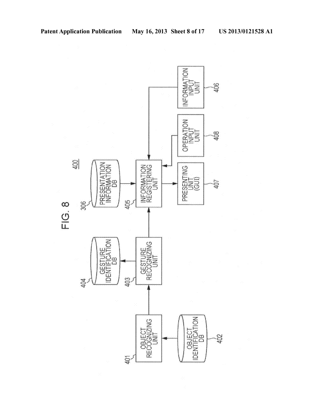 INFORMATION PRESENTATION DEVICE, INFORMATION PRESENTATION METHOD,     INFORMATION PRESENTATION SYSTEM, INFORMATION REGISTRATION DEVICE,     INFORMATION REGISTRATION METHOD, INFORMATION REGISTRATION SYSTEM, AND     PROGRAM - diagram, schematic, and image 09