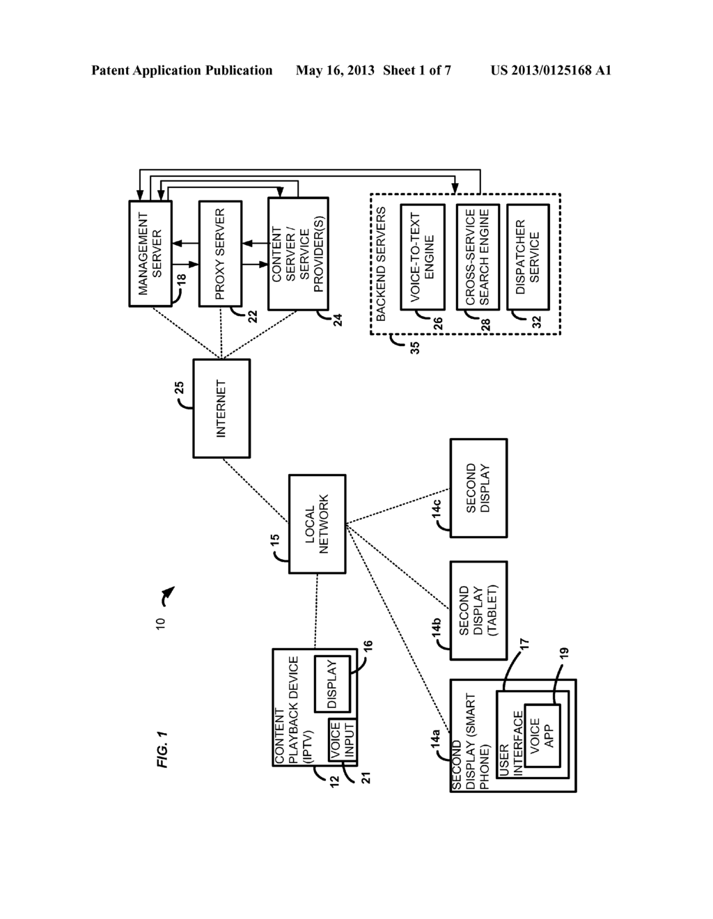 SYSTEM AND METHOD FOR VOICE DRIVEN CROSS SERVICE SEARCH USING SECOND     DISPLAY - diagram, schematic, and image 02