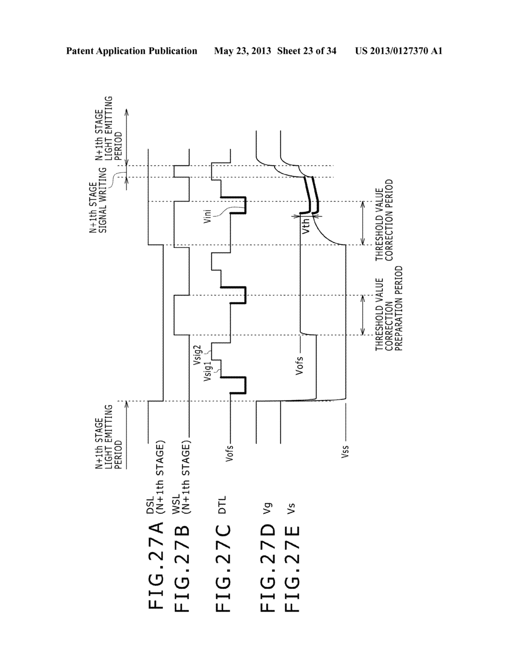 EL DISPLAY PANEL MODULE, EL DISPLAY PANEL, INTEGRATED CIRCUIT DEVICE,     ELECTRONIC APPARATUS AND DRIVING CONTROLLING  METHOD - diagram, schematic, and image 24