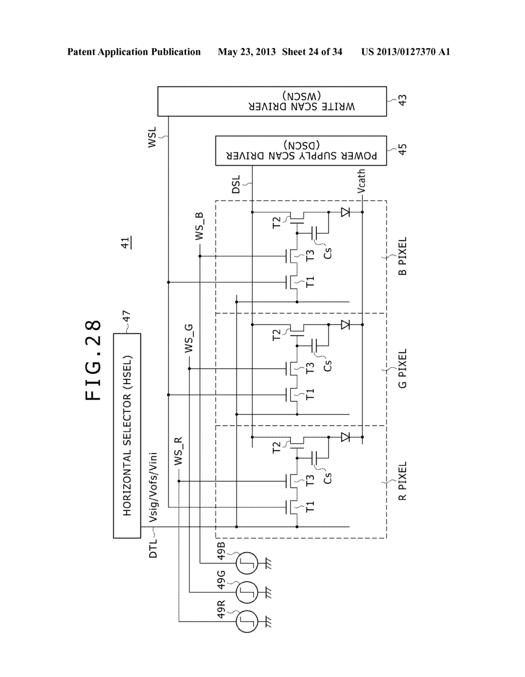 EL DISPLAY PANEL MODULE, EL DISPLAY PANEL, INTEGRATED CIRCUIT DEVICE,     ELECTRONIC APPARATUS AND DRIVING CONTROLLING  METHOD - diagram, schematic, and image 25