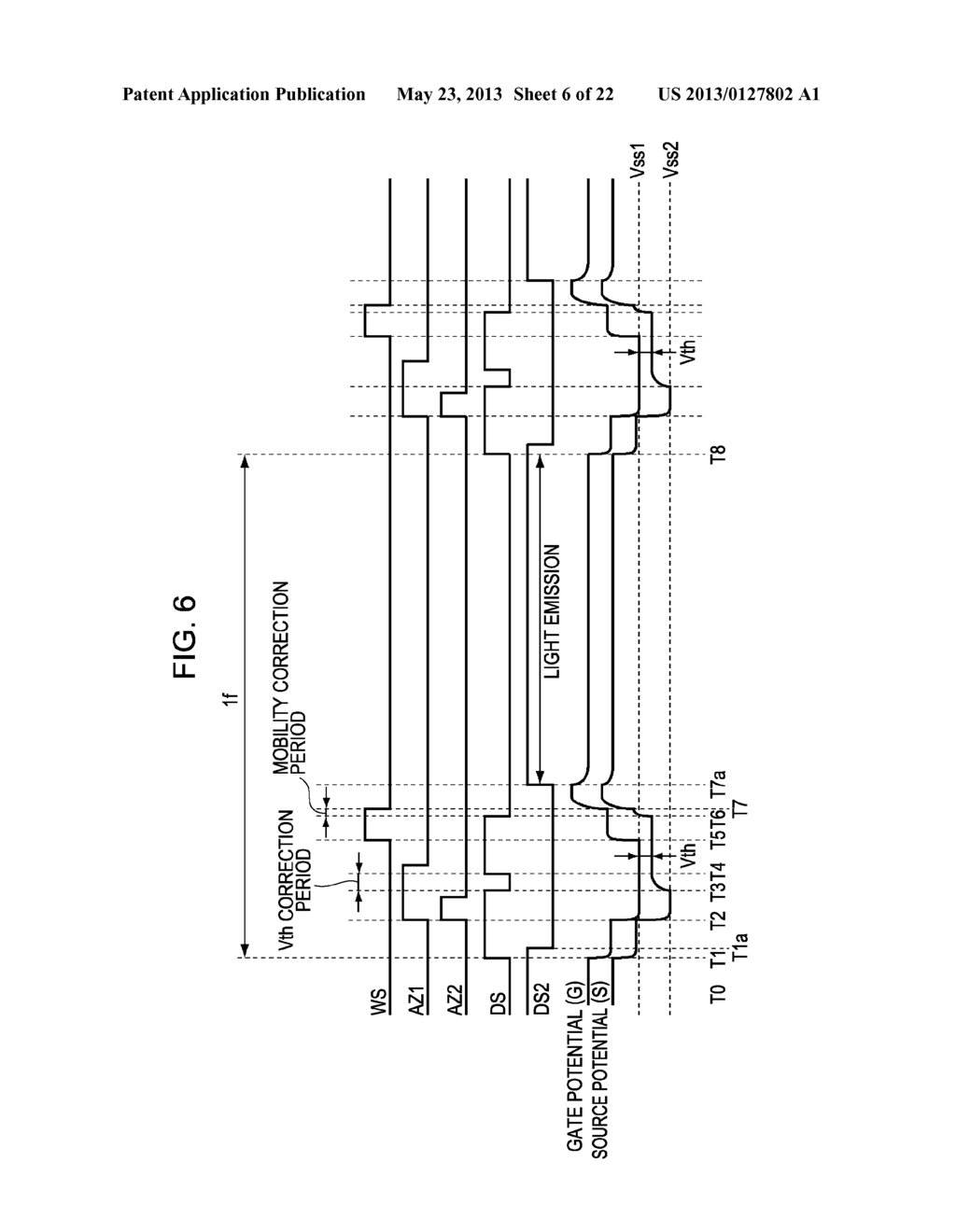 DISPLAY APPARATUS, METHOD OF DRIVING A DISPLAY, AND ELECTRONIC DEVICE - diagram, schematic, and image 07
