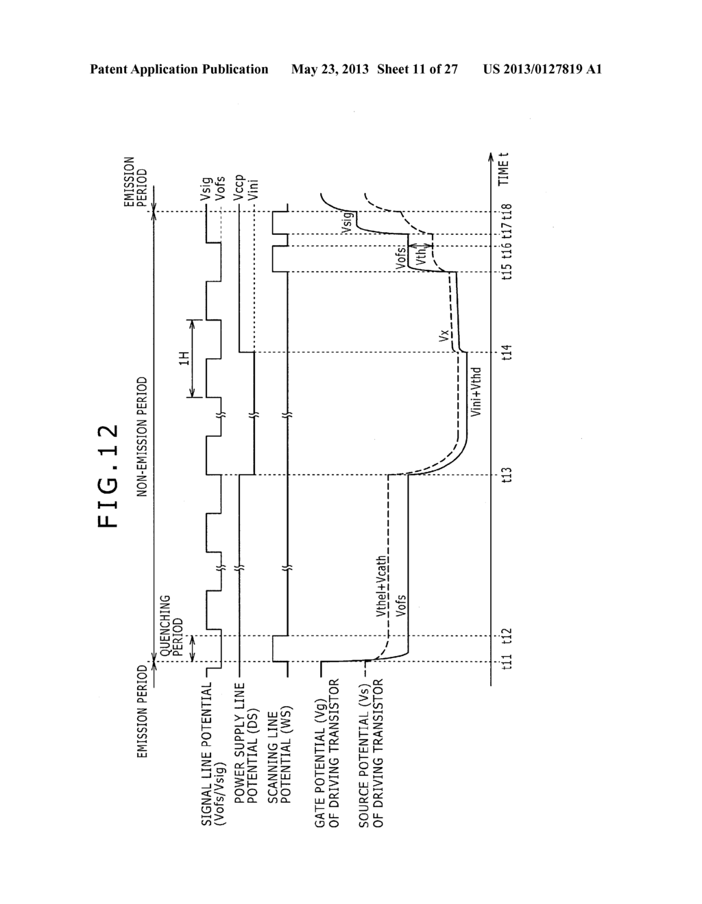 DISPLAY DEVICE, METHOD OF LAYING OUT WIRING IN DISPLAY DEVICE, AND     ELECTRONIC DEVICE - diagram, schematic, and image 12