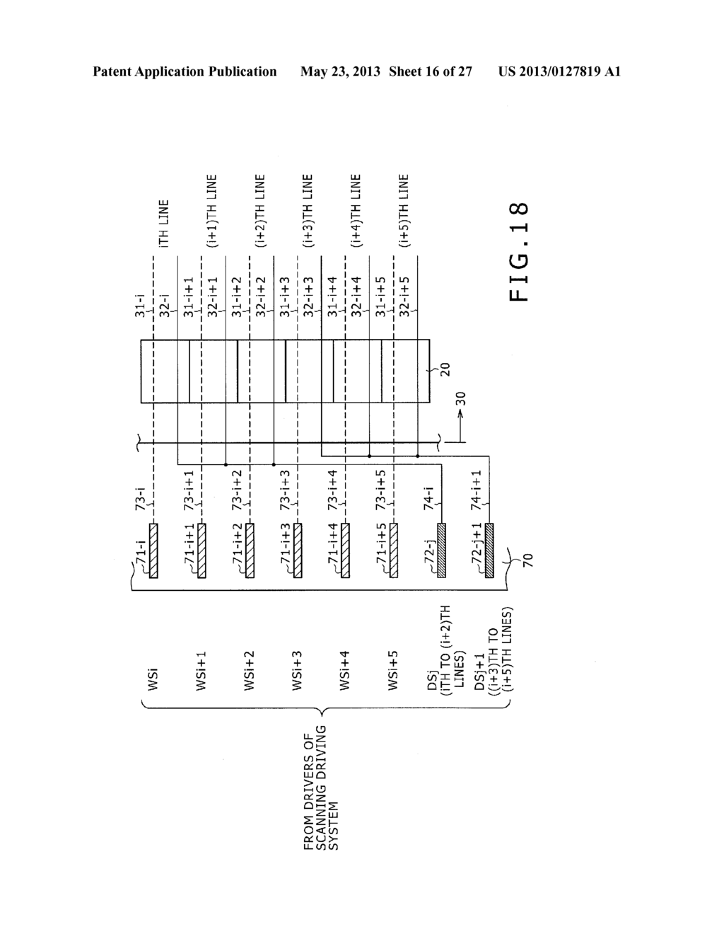 DISPLAY DEVICE, METHOD OF LAYING OUT WIRING IN DISPLAY DEVICE, AND     ELECTRONIC DEVICE - diagram, schematic, and image 17