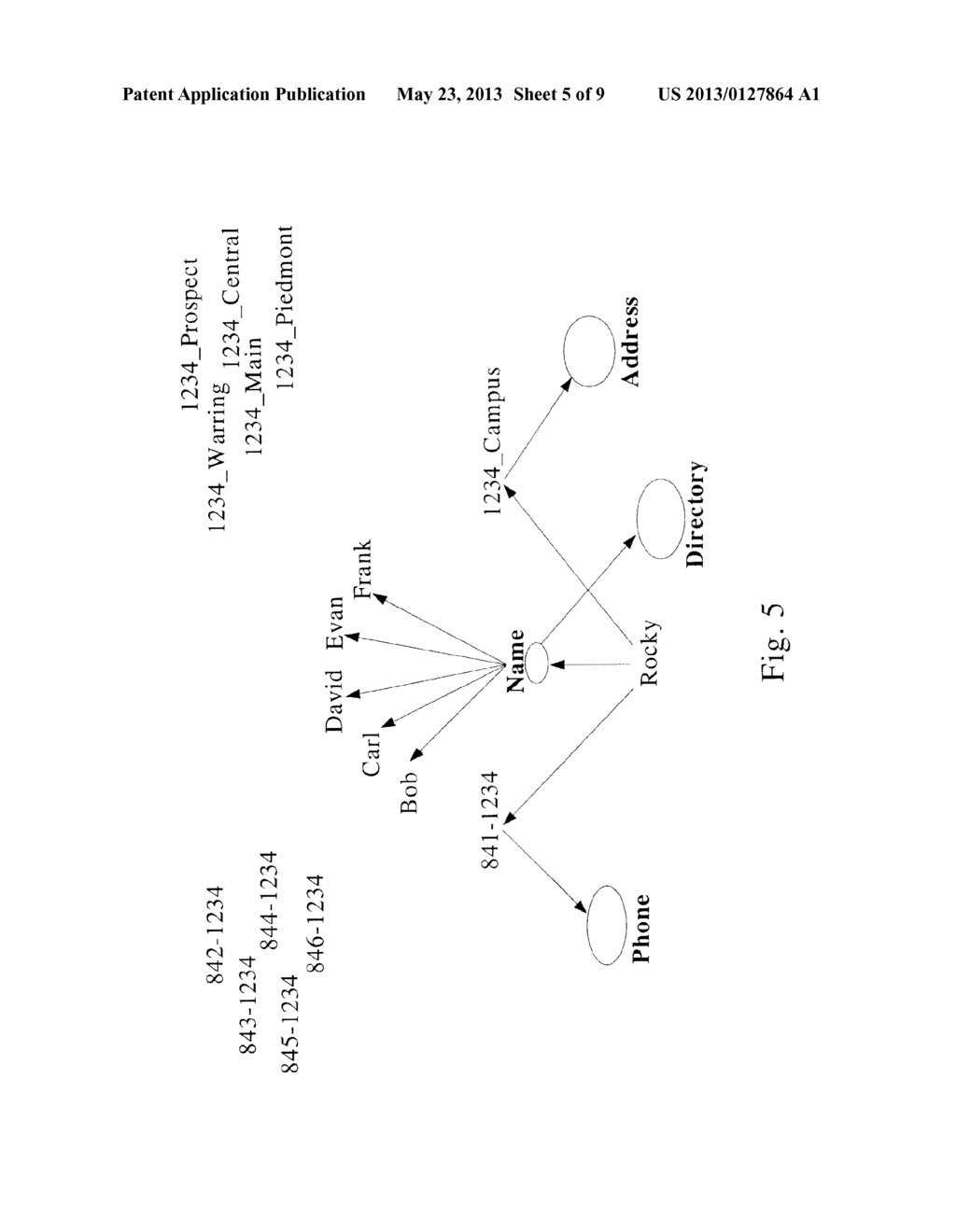 Methods for Generating Visual Data From Nodes Containing Identify Data for     Individuals From a Set View Point - diagram, schematic, and image 06