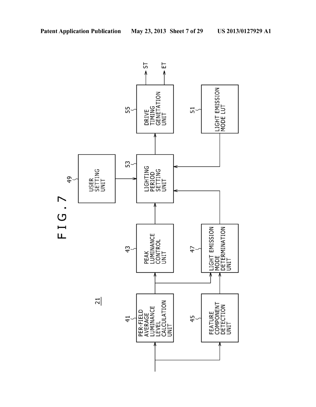 LIGHTING PERIOD SETTING METHOD, DISPLAY PANEL DRIVING METHOD, BACKLIGHT     DRIVING METHOD, LIGHTING CONDITION SETTING DEVICE, SEMICONDUCTOR DEVICE,     DISPLAY PANEL AND ELECTRONIC EQUIPMENT - diagram, schematic, and image 08