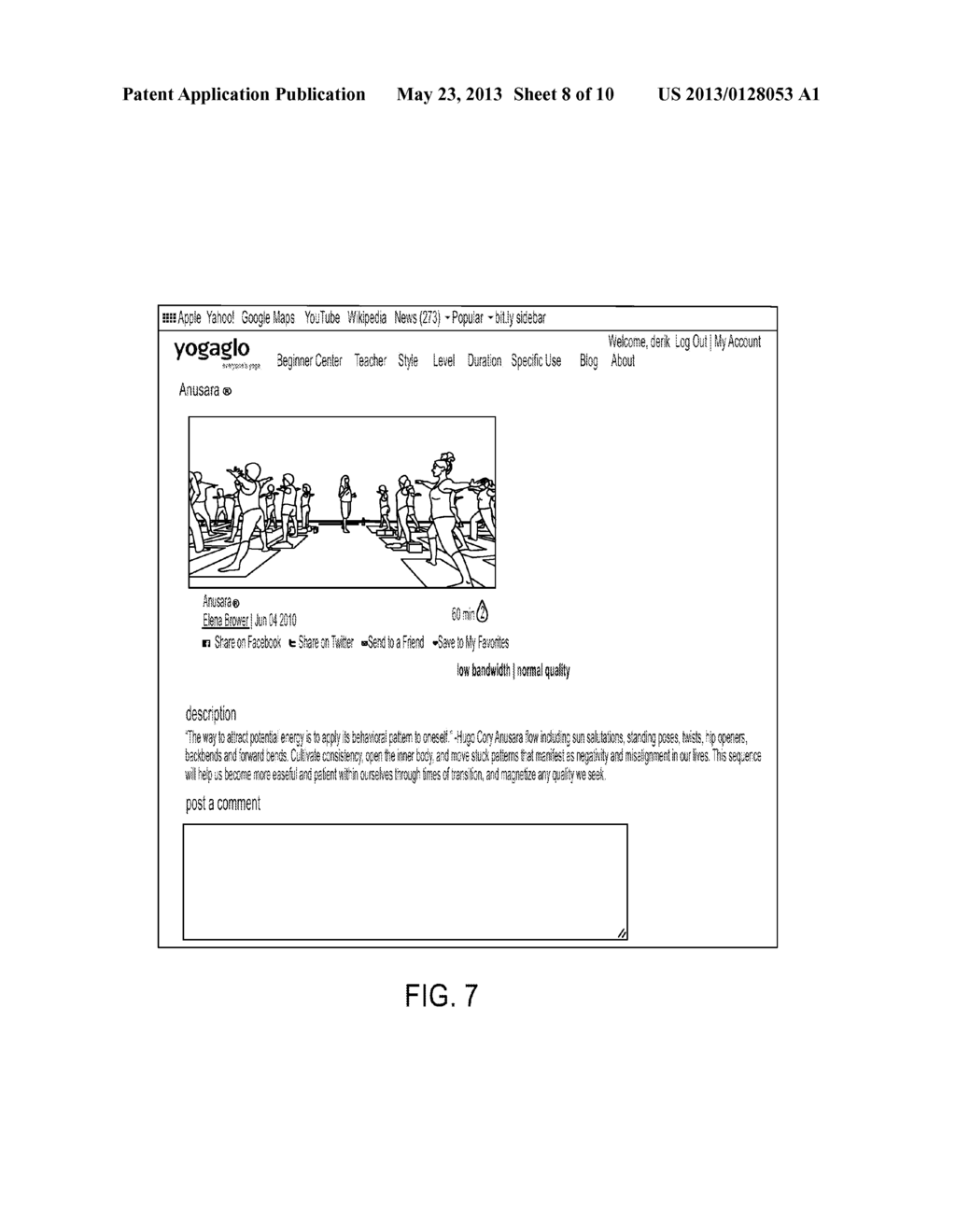 Method and Apparatus for Yoga Class Imaging and Streaming - diagram, schematic, and image 09