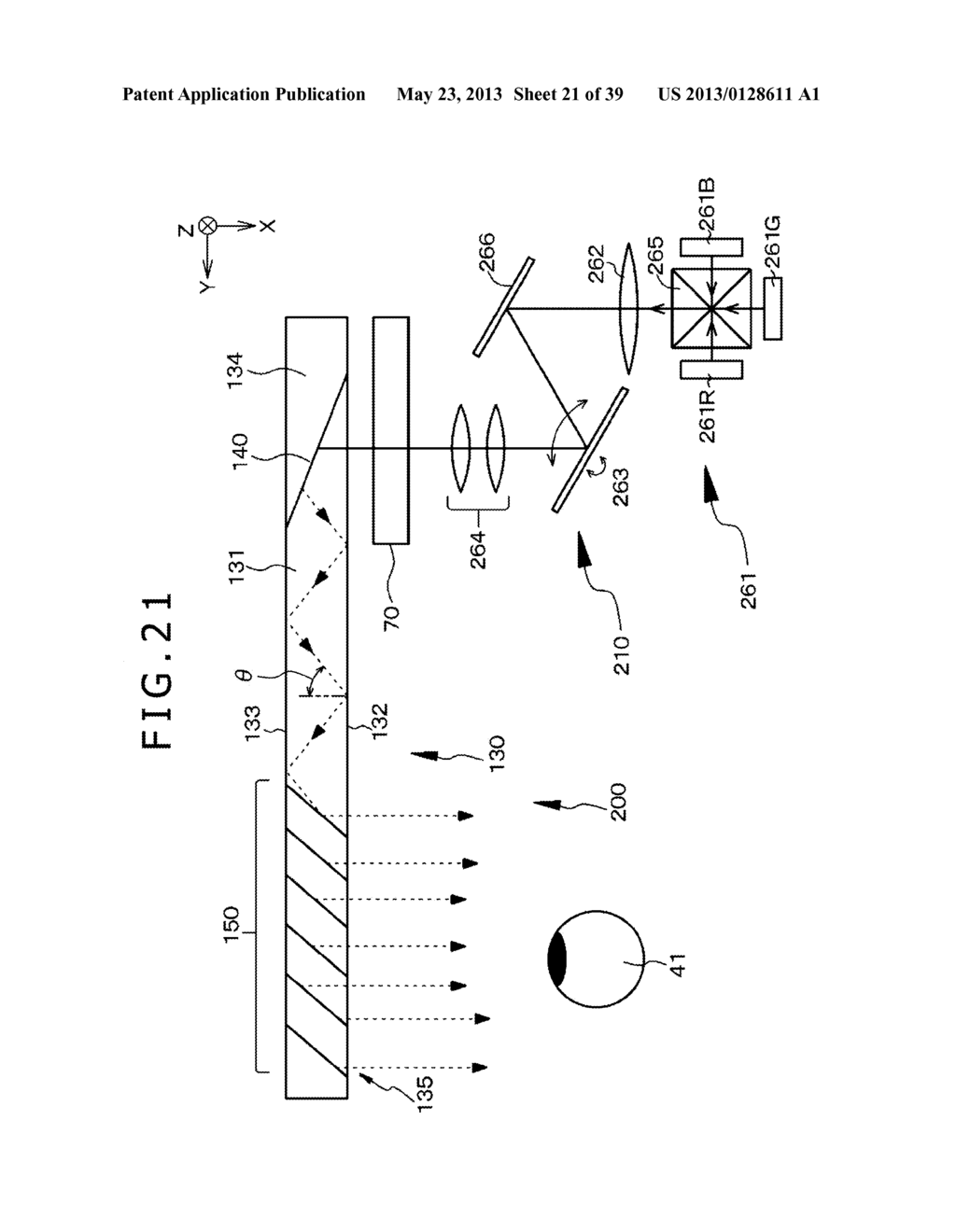 LIGHT BEAM EXPANDING DEVICE, IMAGE DISPLAY DEVICE, AND OPTICAL DEVICE - diagram, schematic, and image 22