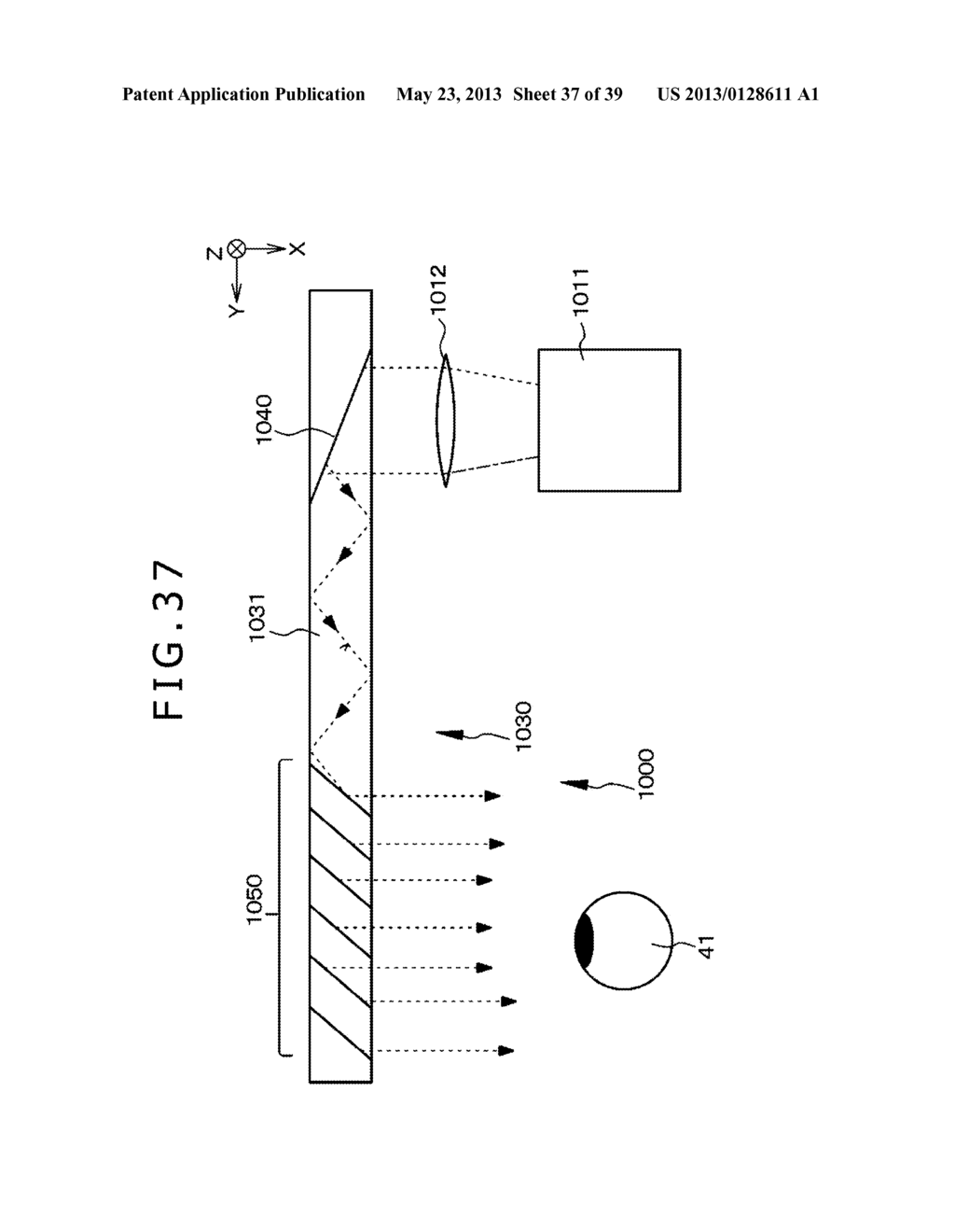 LIGHT BEAM EXPANDING DEVICE, IMAGE DISPLAY DEVICE, AND OPTICAL DEVICE - diagram, schematic, and image 38