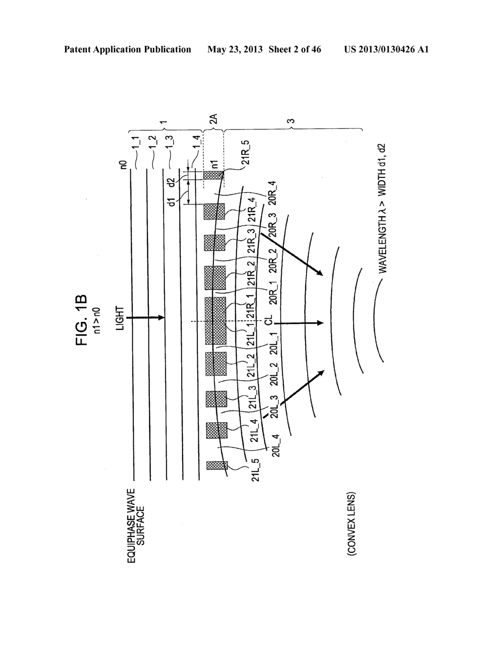 METHOD OF MANUFACTURING AN OPTICAL MEMBER HAVING STACKED HIGH AND LOW     REFRACTIVE INDEX LAYERS - diagram, schematic, and image 03
