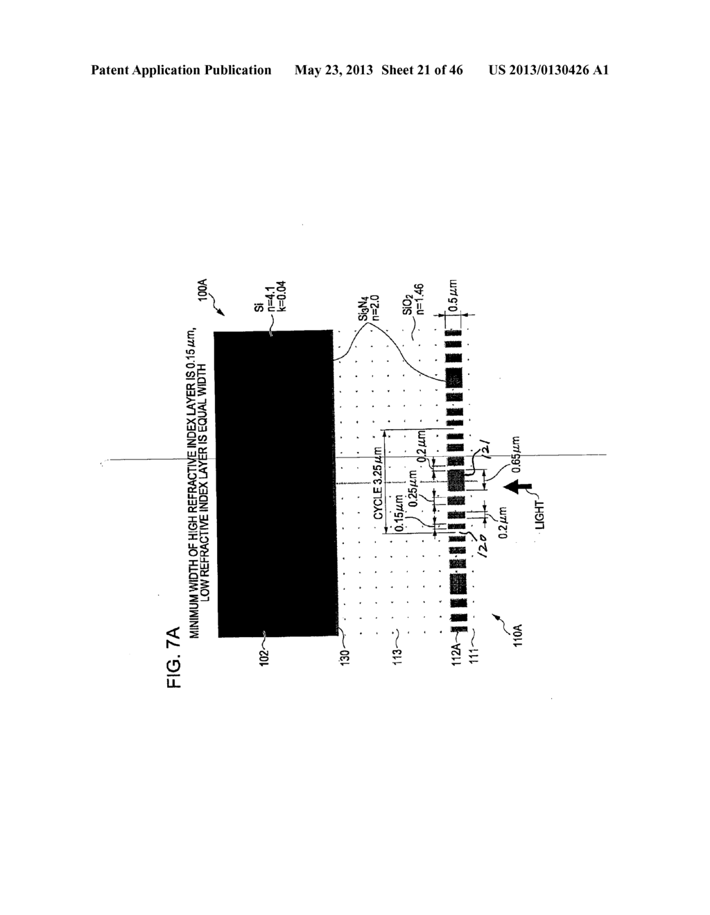 METHOD OF MANUFACTURING AN OPTICAL MEMBER HAVING STACKED HIGH AND LOW     REFRACTIVE INDEX LAYERS - diagram, schematic, and image 22